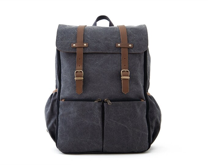 Shop Carryall Gray Color Canvas MOMS & DADS Diaper Bag Online