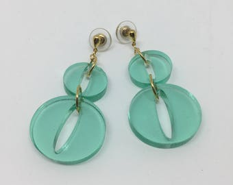 Happy O's Minty Seafoam Earrings
