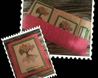 TWO or more 3 Part Card Cloth Pouches / Montessori Materials / 3 Part Card Fabric Pockets / 3 Part Card Folder / 3 Part Card Storage /
