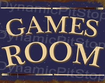 40x30cm Games Room Tin Sign