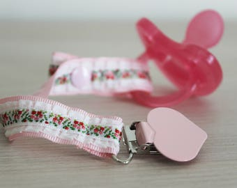 Soother clip, Soothie pacifier holder, pacifier clip girl, Dummy holder , Binky Clips, dummy clip, Paci Clip, Pacifier clip, baby girl