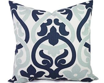 Decorative Pillows - Two Navy Trellis Pillow Covers - Trellis Pillow Cover  - Alex Pillow - Navy Pillows - Navy and Blue Pillow