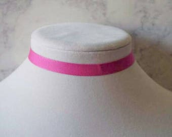 Hot Pink Choker Necklace