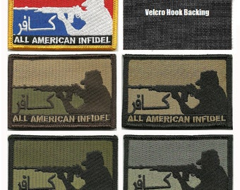 """BuckUp Tactical Morale Patch Hook All American INFDL Patches 3x2"""""""