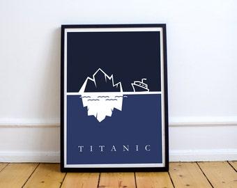 FREE SHIPPING** Titanic -  Movie Poster, Minimalist Poster, Film Poster, Movie Art, Titanic Print, The Titanic, Movie, Poster, Art, Minimal