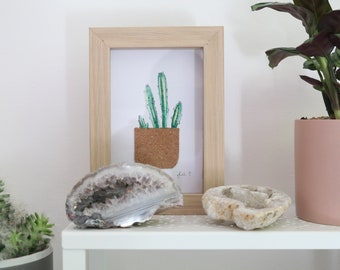 Cactus Painting in Frame