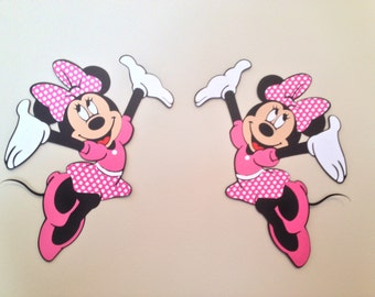 Minnie  Mouse Wall Die Cuts, Minnie Mouse Birthday Decorations/Minnie Mouse Party, Minnie Mouse Decorations/Minnie Mouse Birthday