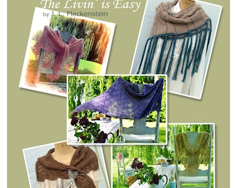 5 Lace Shawl Knitting Patterns eBook Instant PDF Download Easy Quick to Knit Pattern Gift Idea