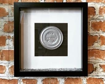 Tin 10 Year Anniversary Embossed Frame - anniversary gift, married 10 years, tin anniversary