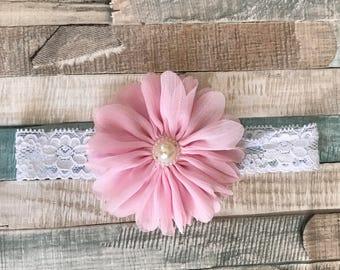 Soft Chiffon Flower Girl Headband
