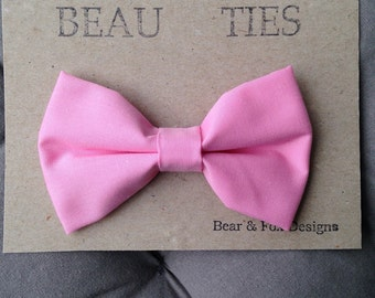 Baby Boy Toddler clip-on bow tie Pink
