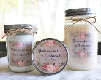 Bridesmaid Spa Gift Set//Candle Gift Set//Personalized Bridesmaid's Gift//Bath Salt//Sugar Scrub//Bridesmaid Gift Set//Spa Gift