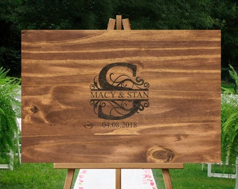 Wedding guest book alternative, guest book alternative, engraved guest book, guest book, wedding guest sign in, guest book ideas, engraved