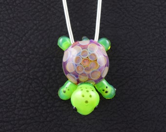 Glass Turtle Hatchling Pendant
