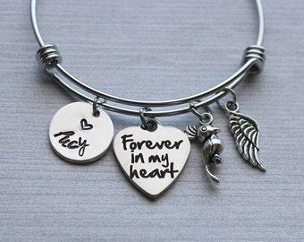 Forever In My Heart Bird Memorial Bracelet, Bird Memorial Gifts, Kid's Pet Loss Gifts, Bird Loss Gifts, Loss of Bird Gifts, Pet Loss Gifts