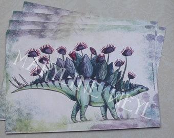 map postcard Stegosaurus dinosaur