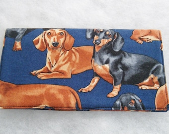 Checkbook Cover - Dachshunds realistic