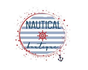 Nautical Premade Logo Logo Design Small Business Branding Small Shop Logo Design Anchor Logo Ocean Logo OOAK logo Business Design Small Shop
