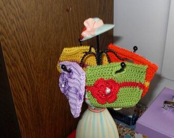 handmade crochet small bag