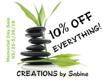 10% OFF EVERYTHING Memorial Day Sale 05/25-05/29/2018 / No coupon code needed, discount taken at checkout
