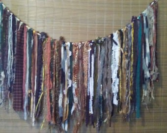Boho garland wall hanging