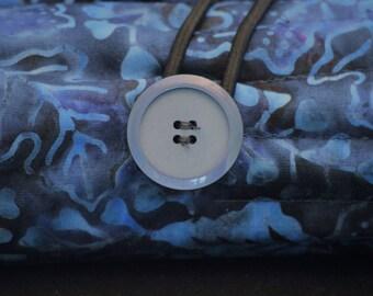 Blue Batik Pencil Roll
