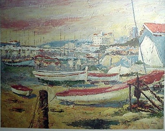 Fishing Village Print by Casals Artwork Reproduction