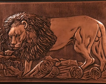 Wall Art - Lion Copper