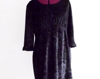 Holiday Sale Little Black Velvet Babydoll Dress