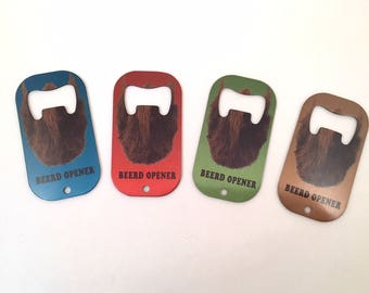 Bottle Opener, Beer, Beards, Groomsmen Gifts, Father's Day Gift,