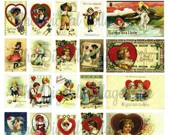 Ellen Clapsaddle Vintage Valentine's Day IV Digital Collage Sheet - TT - 057 - Instant  Download