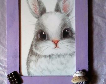 """Very nice vintage """"Bunny and gluttony"""" frame"""