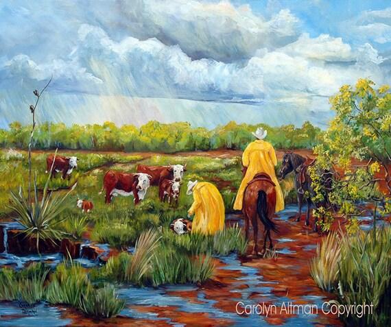 God Bless the Rain  - Original Painting