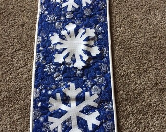 Snowflake Table Runner or Wall Hanging
