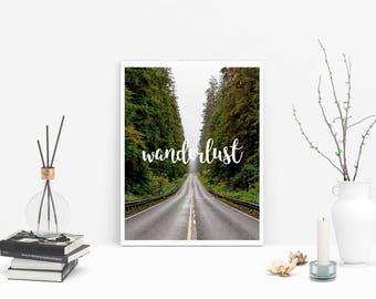 Wanderlust - Wanderlust Artwall - Wanderlust Wall - Wanderlust Art - Wanderlust Print - Wanderlust Digital - Wanderlust Download