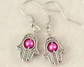 Hamsa Earrings - 3 Sets of Your Choice - Many Colors to Choose From