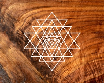 Sri Yantra Vinyl Decal - Sacred Geometry Sticker Decal Vinyl Cutout by LaserTrees - Item Number LT50011