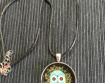 Mexican skull necklace.