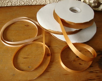 Gold satin ribbon 3 yards party gift wrapping ribbon embellishments kids crafts supplies jewelry sewing hat making paper crafting