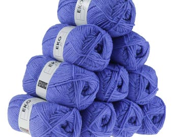 10 x 50g knitted Yarn eko fil, #165 Purple