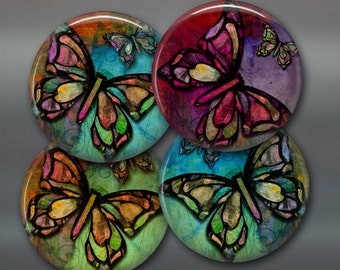 """Butterfly gift for her - butterfly decor for kitchen -  housewarming gifts for butterfly lover -  3.5"""" butterfly fridge magnet set- 3.5"""""""
