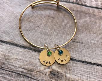 Gold filled customized charm bracelet