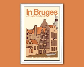 Movie poster retro print In Bruges in various sizes