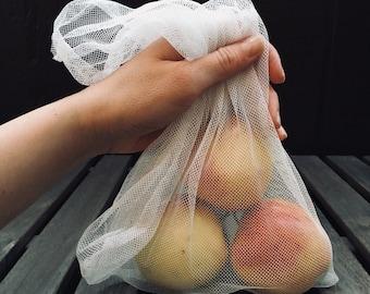 Reusable Kitchen Produce Bags (Set of 3)