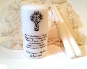 Wedding Candle Set, Irish Blessing Unity Candle, Unity Candle Set, Irish Unity Candle, Celtic Unity Candle, Personalized Unity Candle