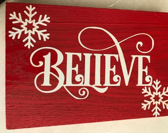 Believe Winter Wall Decor