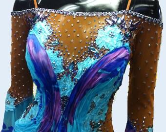 Blue Ballroom Dance  Dress