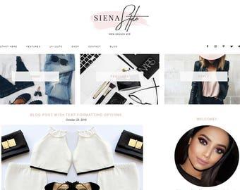 Responsive WordPress Theme | Siena Style Fashion Blog Design | WordPress Template | Genesis Child Theme