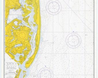 Chatham Harbor and Pleasant Bay, MA  - 1971  Nautical Map - Reprint Harbors 270