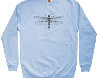 Dragonfly Sweatshirt - Men S M L XL 2x 3x - Crewneck - Insect Sweatshirt, Bug Sweatshirt, Anisoptera Sweater, Entomology Sweater